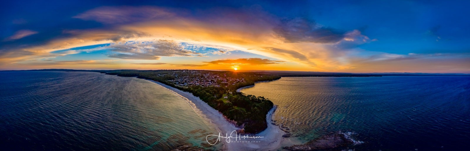 But when I got to Plantation, the winds had eased off a bit and so I took the decision to fly the Mavic again. I figured in-for-a-penny-in-for-a-pound and set it to do some 180º panos. This was from about 50m up just over the water's edge beyond the little rock shelf here. Lightroom had trouble stitching this shot due to the low-light and so I  had to run it through AutoPano.