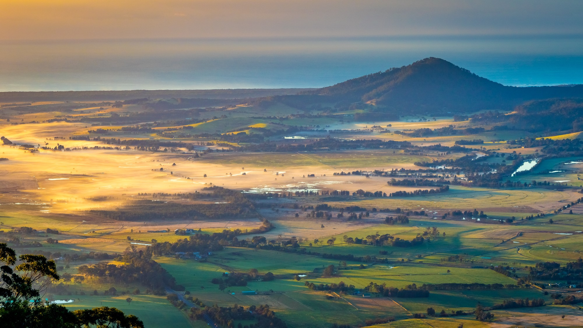 I do love the light early in the morning. I took thisat at Cambewarra Lookout about 30 minutes after sunrise. This isn't a drone shot, it was taken with the zoom lens on my Canon.<i>(July 2016)</i>